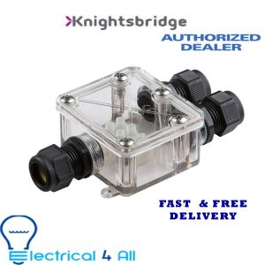 Knightsbridge JBAV004 JB IP68 16A Waterproof Connector Box, Grey