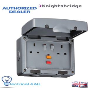 Knightsbridge IPRCD IP66 13A RCD 2G Switched Socket