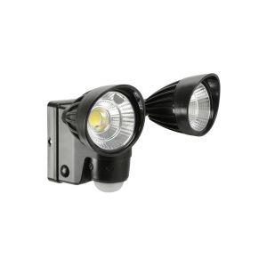 Battery Powered Motion Sensor Twin LED Floodlight