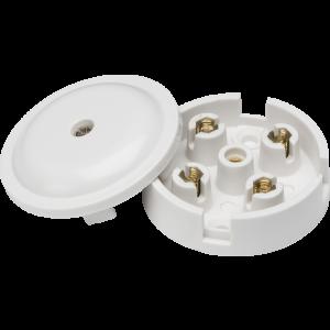 5A Junction Box 4-Terminal - White (59mm)
