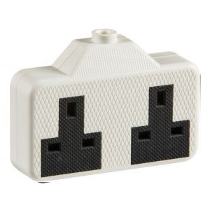 Knightsbridge White 13A 2 Gang Tough Trailing Extension Socket 2014W