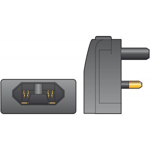 Amazon Fused European Converter Plug 5A Black 429.823UK