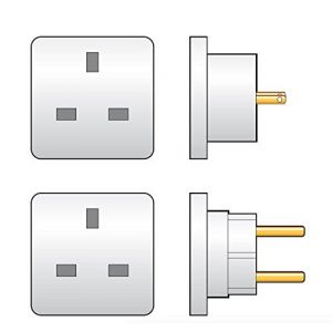 Travel Adaptor Twin Pack - UK to Europe & UK to USA