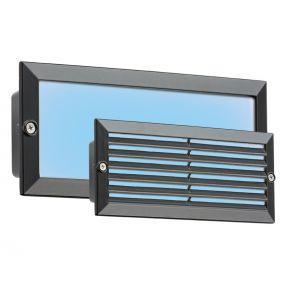 Knightsbridge Blue LED Recessed Brick Light, Aluminium & Glass, 5 W BLED5BB