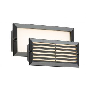 Knightsbridge LED 230V IP54 5W White LED Recessed Brick Light - Black Fascia BLED5BW