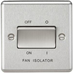 10A 3 Pole Fan Isolator Switch-Rounded Edge-CL11BC-Knightsbridge