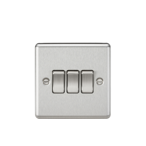 10A 3G 2 Way Plate Switch-Rounded Edge-CL4BC-Knightishbridge