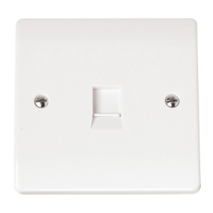 FLUSH TELEPHONE OUTLET IRISH/US-CMA115-Scolmore