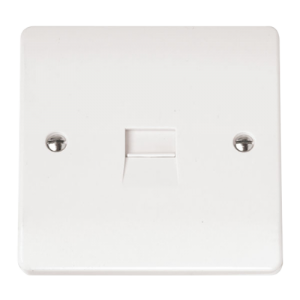 1G SINGLE TEL.OUTLET-CMA124-Scolmore