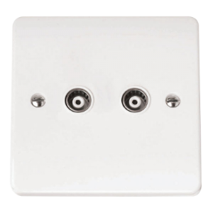 ISOLATED COAXIAL SOCKET TWIN OUTLET-CMA159-Scolmore