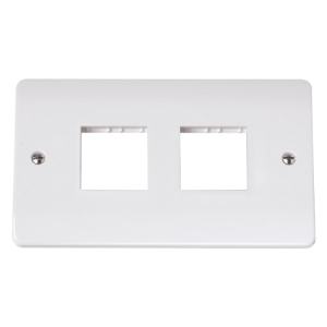 DOUBLE SWITCH PLATE 4 GANG APERTURE-CMA404-Scolmore