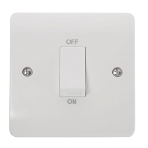 1GANG 45A DP SWITCH(WH ROCKER)-CMA500-Scolmore