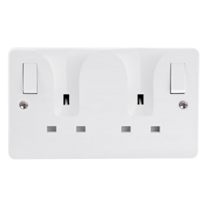 13A 2G DP O/B SW SOCKET LOCATING PLUG-CMA736-Scolmore