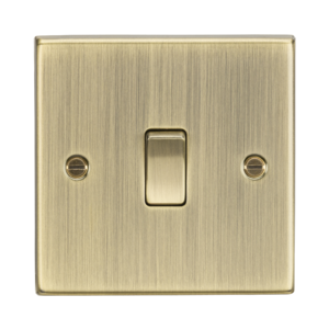 10A 1G Intermediate Switch - Square Edge Antique Brass-CS12AB-Knightsbridge