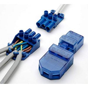 Click CT101C ClickFlow Blue All-In-One Junction Box & Plug-In Connector 20A 250V