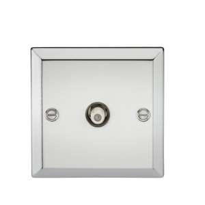SAT TV Outlet - Bevelled Edge Polished Chrome-CV015PC-Knightsbridge