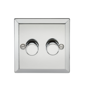 2G 2 Way 40-400W Dimmer - Bevelled Edge Polished Chrome-CV2172PC-Knightsbridge