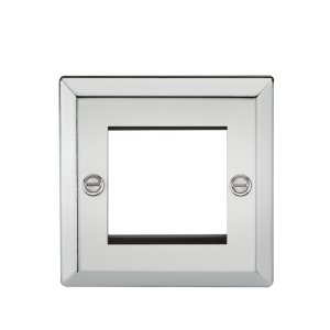 2G Modular Faceplate - Bevelled Edge Polished Chrome-CV2GPC-Knightsbridge