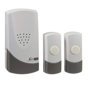 KnightsbridgeDCAV007 Wireless Dual Entrance Door Chime Kit - White