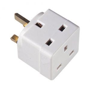 Eagle 13 A 2-Way Block Socket Splitter Mains Adaptor E261BA