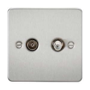Flat Plate TV & SAT TV Outlet (isolated)-FP0140-Knightsbridge