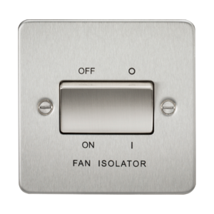 Flat Plate 10A 3 Pole Fan Isolator Switch-FP1100-Knightsbridge