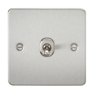 Flat Plate 10A 1G 2 Way Toggle Switch-FP1TO-Knightsbridge