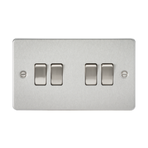 Flat plate 10A 4G 2-way switch-FP4100-Knightbridge