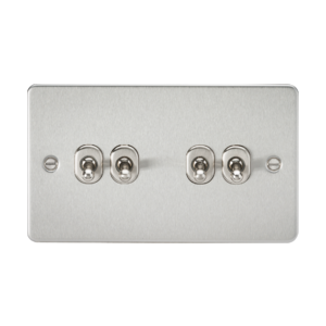 Flat Plate 10A 4G 2-way toggle switch-FP4TOG-Knightsbridge