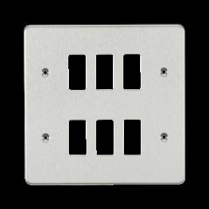 Flat plate 6G grid faceplate-GDFP006-Knightsbridge