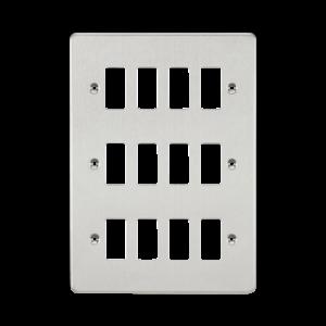 Flat plate 12G grid faceplate-GDFP012-Knightsbridge