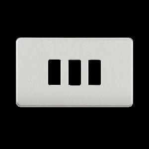 Screwless 3G grid faceplate-GDSF003-Knightsbridge