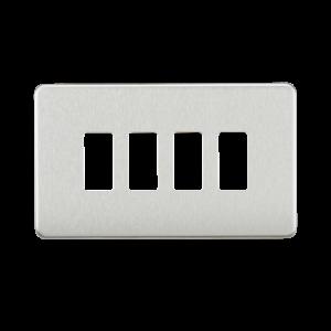 Screwless 4G grid faceplate-GDSF004-Knightsbridge