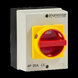 IP65 20A Rotary Isolator 4P AC (230V-415V)-IN0025-Knightsbridge