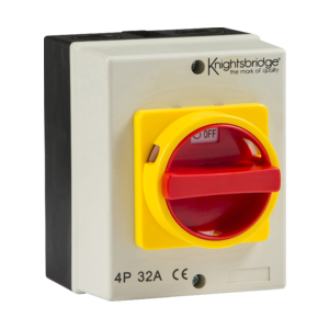 IP65 32A Rotary Isolator 4P AC (230V-415V)-IN0026-Knightsbridge