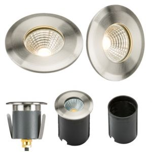 230V IP65 5W LED Stainless Steel Recessed Ground Light 3500K