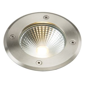 Knighsbridge 230V IP65 6W LED Stainless Steel Recessed Ground Light 3500K