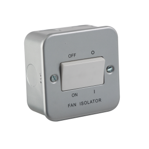 Metal Clad 10A Fan Isolator Switch-M1100-Knightsbridge