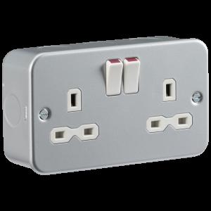 Metal Clad 13A 2G DP Switched Socket-MR9000-Knightsbridge