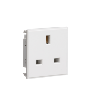 13A 1G unswitched socket module 50 x 50mm-NET13-Knightsbridge