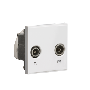 Diplexed TV /FM DAB Outlet Module 50 x 50mm-NETDITV-Knightsbridge
