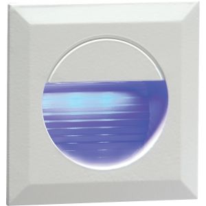 230V IP54 Recessed Square Indoor/Outdoor LED Guide/Stair/Wall Light Blue LED