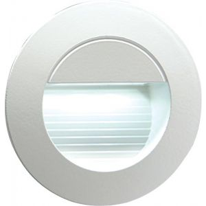 230V IP54 Recessed Round Indoor/Outdoor LED Guide/Stair/Wall Light White LED