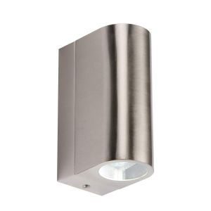 Knightsbridge IP44 230V 6W Tubular LED Up and Down Light Interior or Exterior