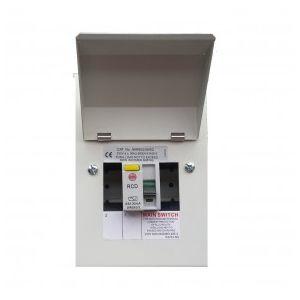 Wylex NMRS206/63 2w 63a 30 Ma RCD Metal Consumer Unit