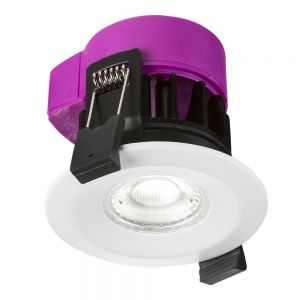 Knightsbriedge RW6CCT 230V IP65 6W Fire-rated LED CCT Change Downlight