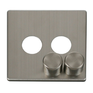 2G DIMMER SW PLATE + KNOBS - SCP242 - Scolmore