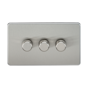 Screwless 3G 2-Way 40-400W Dimmer Switch-SF2173-Knightsbridge