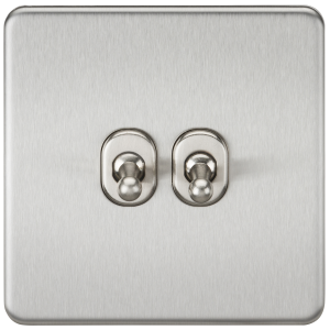 Screwless 10A 2G 2-Way Toggle Switch-SF2TOGBKnightsbridge