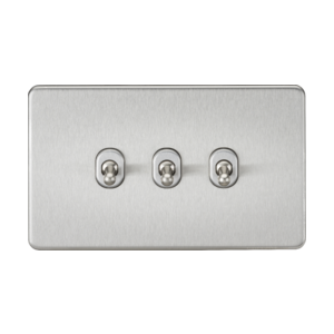 Screwless 10A 3G 2-Way Toggle Switch-SF3TOG-Knightsbridge